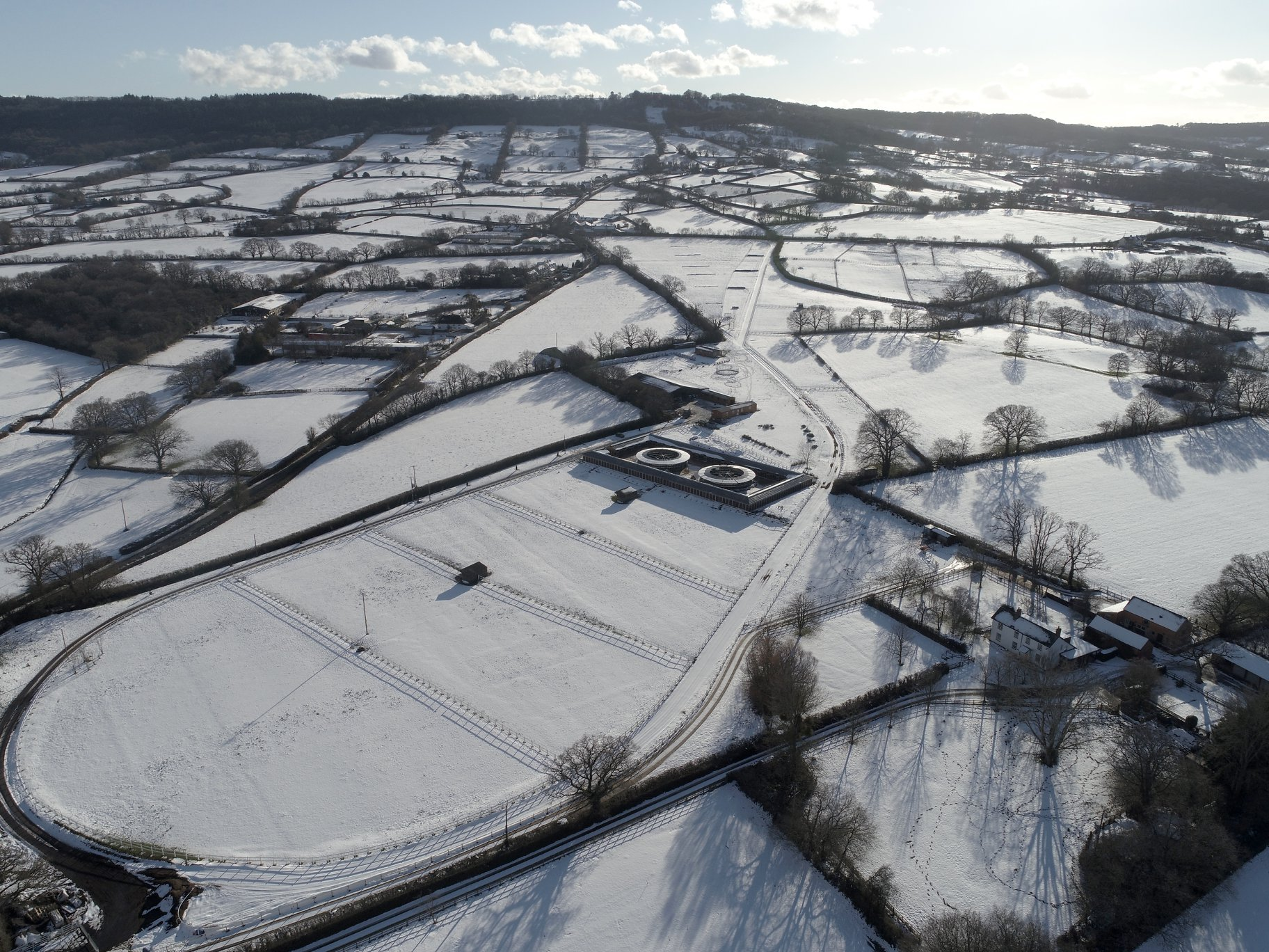 Gallops in Snow Jan 2019