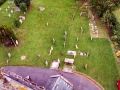 View of the churchyard from the tower